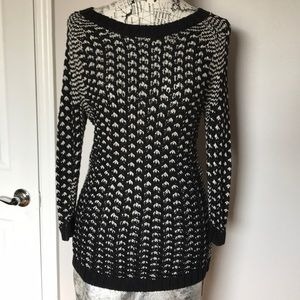 Knit Off Shoulder Sweater Blouse Long Sleeve Tunic